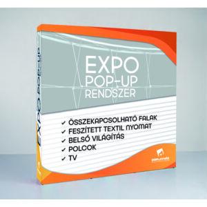 Nyomat - Expo pop-up LED világító fal - 3x3 - Körben
