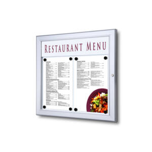 Fali menüvitrin - ezüst