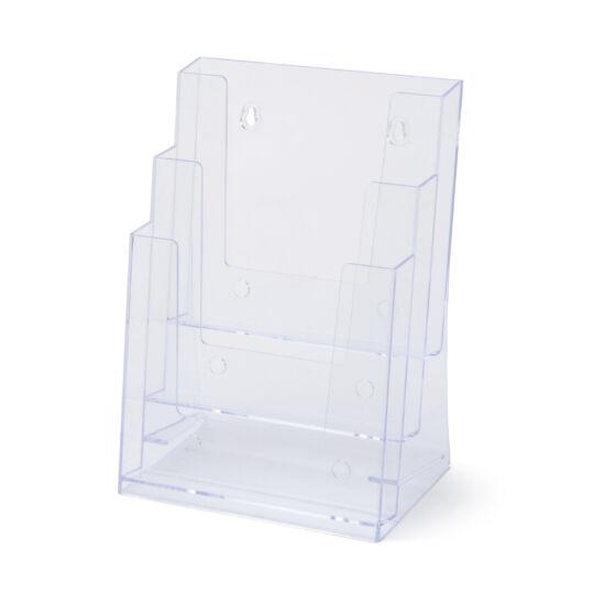 Asztali/fali szórólaptartó - háromzsebes