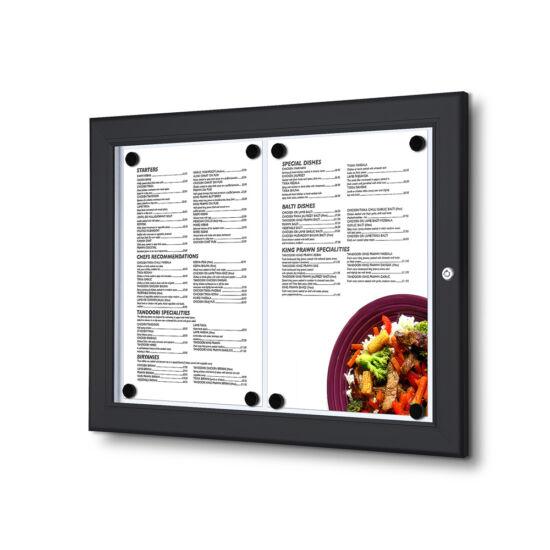 Fali menüvitrin - fekete