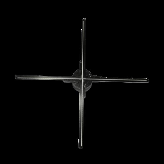 3D holografikus LED ventilátor 65cm