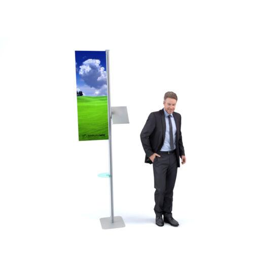 Bemutató display állvány prospektustartóval -T3 Affinity