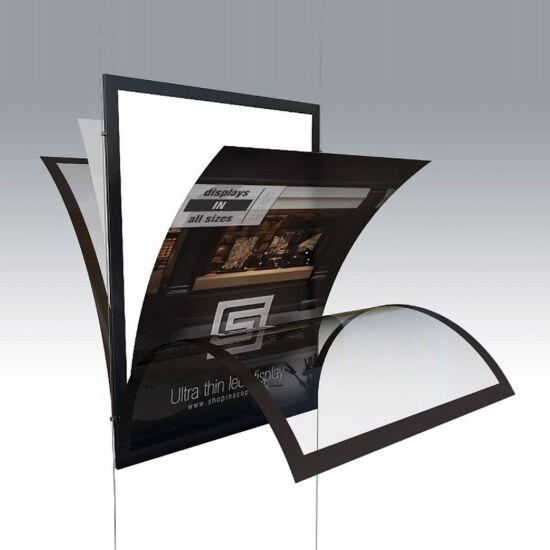 Egyoldalas mágneses és világító plakátkeret