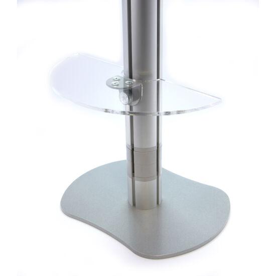 Félkör alakú plexi polc D=15 cm