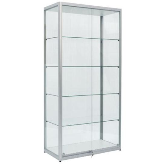 Üvegezett széles álló vitrin