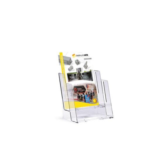 Szórólaptartó - A5 - kétrekeszes