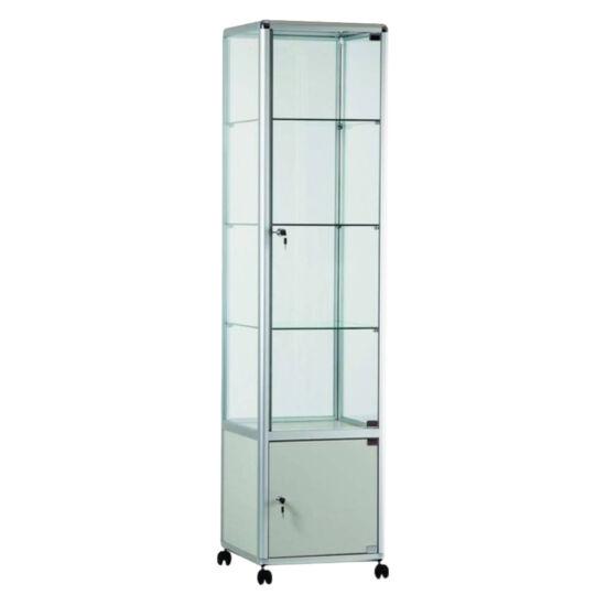 Zárható üvegezett oszlopvitrin