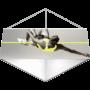 Kép 2/8 - Belógatható reklám banner - Háromszög forma