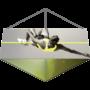 Kép 3/8 - Belógatható reklám banner - Háromszög mennyezeti dekoráció
