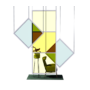 Kép 8/17 - Egyedi plexi leheletvédőfal színes fóliával