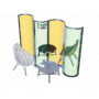 Kép 11/17 - Hullám formájú egyedi plexi védőfal