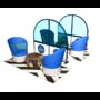 Kép 14/17 - Plexi védőfal egyedi matricával, szállodai hallban